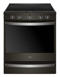 Whirlpool 6.4 cu. ft. Smart Slide-in Electric Range with Scan-to-Cook - Black Stainless