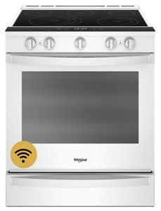 Whirlpool 6.4 cu. ft. Smart Slide-in Electric Range with Scan-to-Cook - White