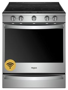 Whirlpool 6.4 cu. ft. Smart Slide-in Electric Range with Scan-to-Cook - Stainless Steel