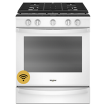 5.8 cu. ft. Smart front control Gas Range with EZ-2-Lift™ Hinged Cast-Iron Grates