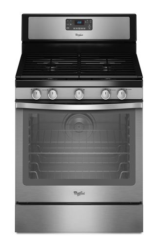 Stainless Steel 5 8 Cu Ft Capacity Gas Range With Aqualift