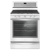 Whirlpool® 5.8 Cu. Ft. Freestanding Gas Range with Center Oval Burner