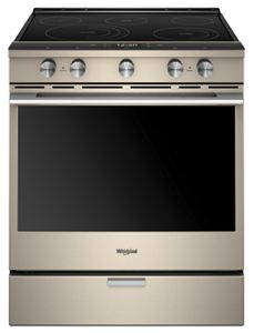 6.4 Cu. Ft. Smart Contemporary Handle Slide-in Electric Range with Frozen Bake™ Technology