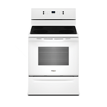 5.3 cu. ft. guided Electric Rear Control Range with fan convection cooking