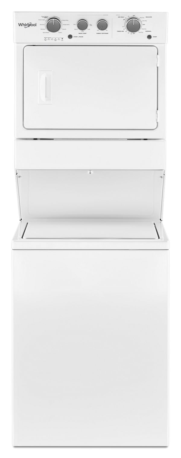4.0 cu.ft I.E.C. Gas Stacked Laundry Center 9 Wash cycles and AutoDry™