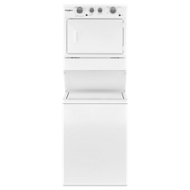 4.0 cu.ft I.E.C. Electric Stacked Laundry Center 9 Wash cycles and AutoDry™