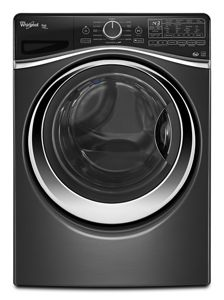 black 4 5 cu ft duet® steam front load washer with load \u0026 gotap and hold to zoom