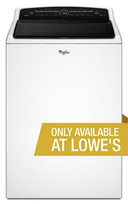 White 5 3 cu ft HE Top Load Washer with Adaptive Wash