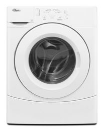 White 3 5 cu  ft  Front Load Washer with Deep Clean Wash System