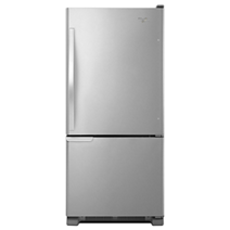 Whirlpool® 19 cu. ft. Bottom-Freezer Refrigerator with LED Lighting
