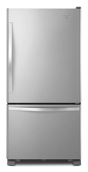 Whirlpool® 19 cu  ft  Bottom-Freezer Refrigerator with Freezer