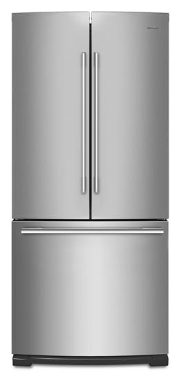 30 Inch Wide Contemporary Handle French Door Refrigerator