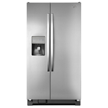 Whirlpool® 36-inch Wide Side-by-Side Refrigerator with Water Dispenser - 25 cu. ft.