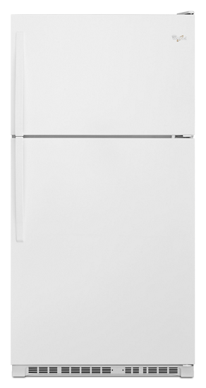 33 Inch Wide Top Freezer Refrigerator 20 Cu Ft Whirlpool