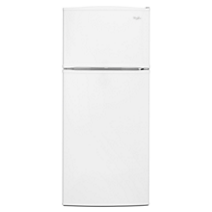 "Whirlpool® 28"" Wide Top-Freezer Refrigerator with Improved Design"