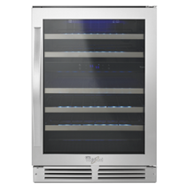 """Whirlpool® 24"""" Undercounter Wine Center with Dual-Temperature Control"""