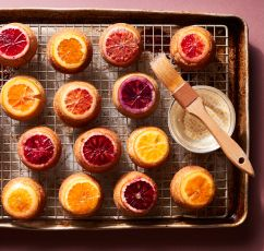 Mini Citrus Rosemary Upside-Down Cakes
